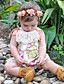 Baby Floral One-Pieces Cotton Summer Sleeveless Tassel Harness Baby Girls Romper Bodysuits Fashion Jumpsuits for Kids Girls