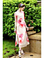 cheap Women's Dresses-Women's Holiday Going out Vintage Chinoiserie Loose Swing Dress,Floral Stand Asymmetrical Half Sleeves Silk Cotton Others Summer Mid Rise