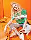 Naiset Lyhythihainen Pyöreä kaula-aukko Polyesteri Viskoosia Yksinkertainen Päivittäin Kausaliteetti T-paita,Raidoitettu