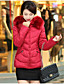 cheap Women's Down & Parkas-Women's Going out Street chic Padded - Solid Colored