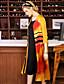 Damen Druck Einfarbig Anspruchsvoll Lässig/Alltäglich Trench Coat,V-Ausschnitt Frühling Halbe Ärmel Maxi Kunstseide