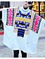 preiswerte Damen Pullover-Damen Lang Pullover-Lässig/Alltäglich Solide Rollkragen 3/4 Ärmel Baumwolle Herbst Winter Mittel Mikro-elastisch