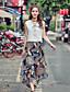 Damen Solide Muster Einfach Lässig/Alltäglich Bluse Rock Anzüge,V-Ausschnitt Sommer Ärmellos