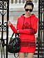 preiswerte Damen Kapuzenpullover & Sweatshirts-Damen Kapuzenshirt Ausgehen Solide Buchstabe Dehnbar Polyester Lange Ärmel Frühling Herbst