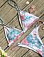 cheap Women's Swimwear & Bikinis-Women's Strap Triangle Bikini - Floral, Print Cheeky