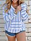 olcso Női pulóverek-Női Hosszú ujj Bő Pulóver Egyszínű
