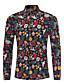 tanie Męskie koszule-Koszula Męskie Vintage Wzornictwo chińskie, Kwiatowy Impreza Klubowa Stójka Kwiaty