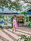povoljno Ženske haljine-Žene Izlasci Vintage Pamuk A kroj Haljina - Mašna, Na točkice Lađa izrez Do koljena