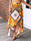 tanie Damska spódnica-Damskie Huśtawka wisząca Spódnice Geometryczny Wielokolorowa, Modne Kwiatowy