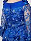 olcso Örömanya ruhák-Sellő fazon Csuklya Földig érő Seprő uszály Csipke selymen Örömanya ruha val vel Virág által LAN TING BRIDE®