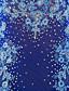 baratos Vestidos de Patinação no Gelo-Vestidos para Patinação Artística Mulheres Para Meninas Patinação no Gelo Vestidos Verde Azulado Pedrarias Apliques Espetáculo Roupa para
