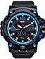 cheap Military Watches-SMAEL Men's Sport Watch Military Watch Bracelet Watch Digital Quilted PU Leather Black / Blue / Red 30 m Water Resistant / Waterproof Alarm Calendar / date / day Analog-Digital Charm Luxury Vintage
