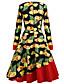 זול שמלות נשים-דפוס, פרחוני - שמלה גזרת A רזה בגדי ריקוד נשים