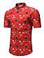 tanie Męskie koszule-Rozmiar plus Koszula Męskie Podstawowy / Wzornictwo chińskie, Nadruk Bawełna Geometryczny / Krótki rękaw