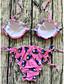tanie Bikini i odzież kąpielowa 2017-Damskie Pasek Rumiany róż Majtki Tankini Stroje kąpielowe - Geometric Shape S M L / Seksowny