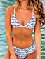 tanie Bikini i odzież kąpielowa 2017-Damskie Bikini - Geometryczny, Nadruk Dół typu Cheeky