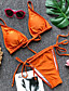 cheap Bikinis-Women's Basic Strapless Orange Yellow Wine Bandeau Cheeky Bikini Swimwear - Solid Colored S M L Orange / Sexy