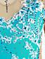 olcso Műkorcsolya ruha-Kűrruha Női / Lány Klizanje na ledu Ruhák Halványkék Virág Spandex Nagy rugalmasságú Verseny Kűrruhák Kézzel készített Egyszínű Hosszú ujj Jégkorcsolyázás / Műkorcsolyázás