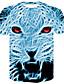 Χαμηλού Κόστους Ανδρικά μπλουζάκια και φανελάκια-Ανδρικά T-shirt Κομψό στυλ street / Πανκ & Γκόθικ Συνδυασμός Χρωμάτων / Ζώο Στάμπα