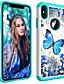 povoljno iPhone maske-Θήκη Za Apple iPhone XS / iPhone XR / iPhone XS Max Štras / Translucent Stražnja maska Rukav leptir Tvrdo TPU / PC