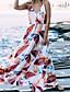 levne Print Dresses-Dámské Základní Cikánský Pouzdro Šaty - Geometrický Maxi