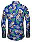 hesapli Erkek Gömlekleri-Erkek Gömlek Desen, Çiçekli Tropikal yaprak Havuz