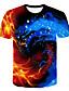 hesapli Erkek Tişörtleri ve Atletleri-Erkek Tişört Desen, 3D / Grafik Sokak Şıklığı / Abartılı Gökküşağı