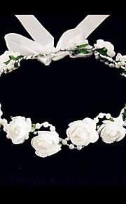 Cristal Tissu Mousse Diadèmes Fleurs 1 Mariage Occasion spéciale Fête / Soirée Décontracté Casque