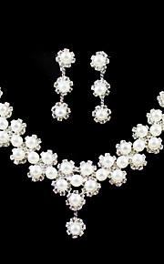 בגדי ריקוד נשים אחרים סט תכשיטים עגילים / שרשראות - רגיל עבור חתונה / Party / יום הולדת