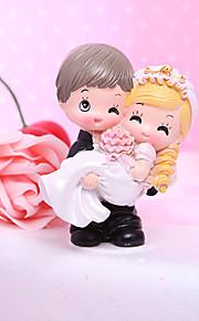 ケーキトッパー ガーデンテーマ クラシックテーマ 面白い 夫妻 樹脂 結婚式 ブライダルシャワー 〜と ギフトボックス