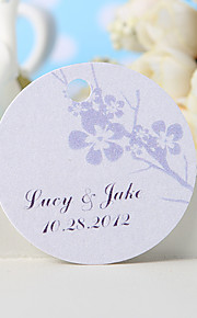 Personalized Favor Tag - Silvery Plum Blossom (Set of 36) Wedding Favors