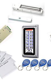 Metal Vandtæt Adgang Controller Kits (Magnetisk Lås 280 Kg, 10 Em-Id-Kort, Strømforsyning)