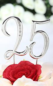 Kakepynt Klassisk Tema Chrome jubileum Bursdag med Rhinsten PVC Veske