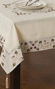 Mélange Lin / Coton Neliö Table Cloths Kukka Ekologinen Pöytäkoristeet