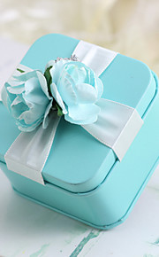 Créatif Cubique Matière Titulaire de Faveur avec Ruban Motif Fleur Boîtes à cadeaux Cannette de cadeau Autres Accessoires de Mariage