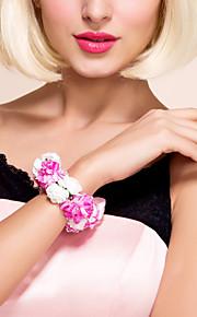 Fleurs de mariage Bouquets Petit bouquet de fleurs au poignet Autres Mariage Fête / Soirée Matière Satin 0-20cm
