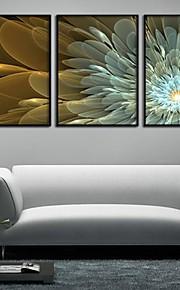 """Kanvas Sett Blomstret/Botanisk Moderne Tradisjonell,Tre Paneler Horisontal Trykket Kunst  """"Veggdekor"""" For Hjem Dekor"""