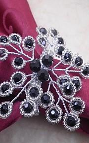 servilletero flor perlas, acrílico, de 4,5 cm, un conjunto de 12