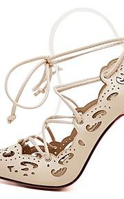 Naisten Kengät Tekonahka Kevät Kesä Stilettikorko varten Puku Juhlat Manteli Musta
