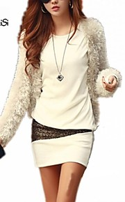 NUO WEI SI ® Women's Round Neck Korean Style Long Sleeve Dress