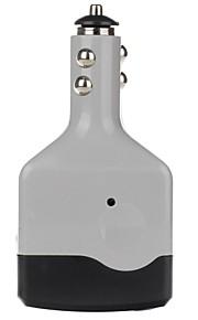 beauty-auto 6W DC 12V naar AC 220V auto-omvormer met USB-poort (grijs)