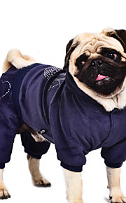Σκύλος Παλτά   Φούτερ με Κουκούλα   Φόρμες Ρούχα για σκύλους Καρδιά Βυσσινί    Μπλε   79e10bf7a95
