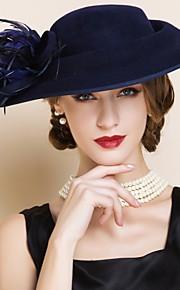 Femme Laine Casque-Mariage / Occasion spéciale Chapeau 1 Pièce