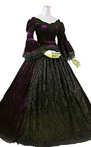 0df5ccee725 Gothic Lolita Rococo Barroco Viktoria Tarzı Krajka Párty Maturitní ples  Dámské Šaty Cosplay Tmavě fialová Plesové