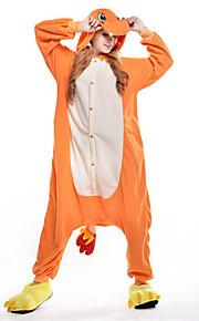 Dospělé Pyžama Kigurumi Drak Zvířecí Pyžamo Onesie polar fleece Oranžová Cosplay Pro Dámy a pánové Animal Sleepwear Karikatura Festival / Svátek Kostýmy