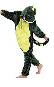 아동용 올인원 캐릭터 파자마 공룡 동물 점프수트 파자마 플란넬양털 그린 코스프레 에 대한 남학생과 여학생 동물 잠옷 만화 페스티발 / 홀리데이 의상