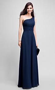 A tubino Monospalla Lungo Chiffon Graduazione / Serata formale Vestito con Perline di TS Couture®