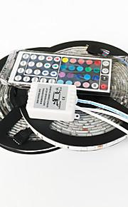 ZDM® 2x5M Lyssæt 2*150 lysdioder 1 44Køler fjernbetjening RGB Chippable Selvklæbende Dekorativ 12V 1set