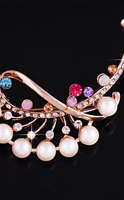Dame Brocher Rose Lyserød Stilfuld Mode Smykker Bryllup Hverdag Kostume smykker