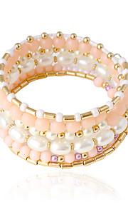 Dame Armbånd Imiteret Perle Imiteret Perle Legering Tubeformet Smykker Bryllup Fest Daglig Afslappet Kostume smykker